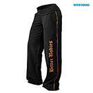 BetterBodies Baggy Soft Pant - Black/Orange