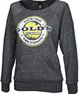 GOLD'S GYM LADIES CUTOFF ECO SWEATER DARK GREY