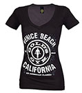 GOLD'S GYM VENICE PLATE DEEP V BLACK WHITE