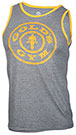 GOLD'S GYM MUSCLE JOE CONTRAST ATHLETE TANK GREY