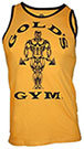 GOLD'S GYM MUSCLE JOE CONTRAST ATHLETE TANK YELLOW