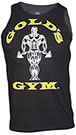 GOLD'S GYM MUSCLE JOE CONTRAST ATHLETE TANK BLACK