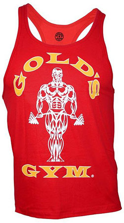 GOLD'S GYM CLASSIC STRINGER TANK TOP RED Detail 1