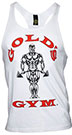 GOLD'S GYM CLASSIC STRINGER TANK TOP WHITE