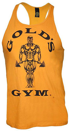 GOLD'S GYM CLASSIC STRINGER TANK TOP YELLOW