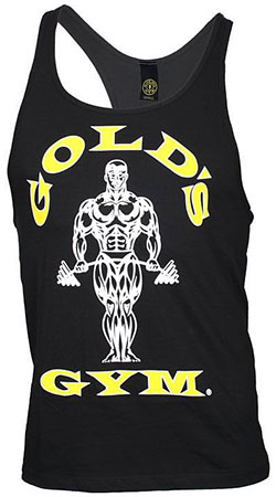 GOLD'S GYM CLASSIC STRINGER TANK TOP BLACK