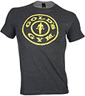GOLD'S GYM STRONGER THAN EXCUSES TEE DARK GREY