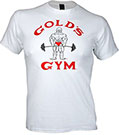 GOLD'S GYM CLASSIC OLD JOE TEE WHITE
