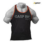 GASP Division Jersey Tank -  Black/Flame