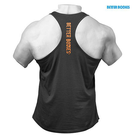 BetterBodies Front Printed T-Back - Washed Black Detail 2