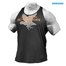 BetterBodies Front Printed T-Back - Washed Black