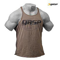 GASP Deep Cut Slub Tank - Washed Green