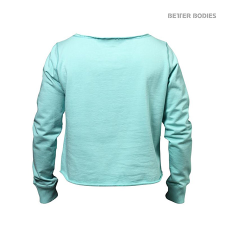 BetterBodies Cropped Sweater - Light Aqua Detail 4