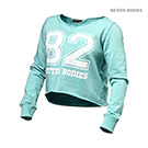 BetterBodies Cropped Sweater - Light Aqua