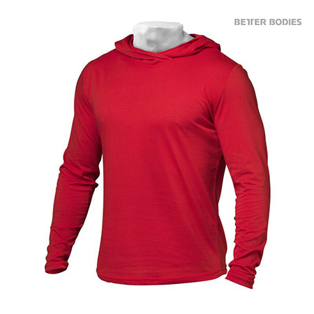 Better Bodies Mens Soft Hoodie - Bright Red Detail 1