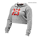BetterBodies Cropped Hoodie - Grey Melange