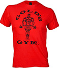 GOLD'S GYM CLASSIC GOLDS LOGO BASIC T-SHIRT RED