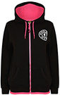 GOLD'S GYM LADIES MUSCLE JOE ZIP HOODIE BLACK