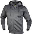 GOLD'S GYM PERFECT MEN'S ZIPPER HOODIE CHARCOAL