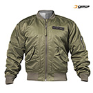 GASP Utility Jacket Including US Flag Patch - Washed Green