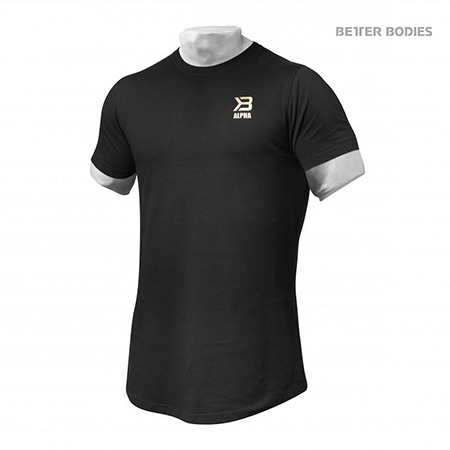 BetterBodies Alpha Zip Tee - Black Detail 1