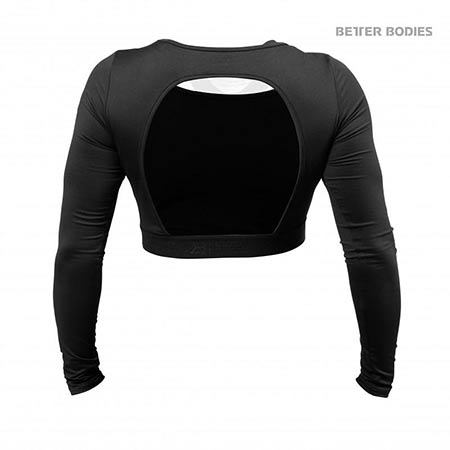 BetterBodies Chelsea Cropped L/S - Black Detail 2
