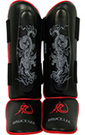 Bruce Lee Deluxe Gel Shinguards Gel Schienbeinschoner