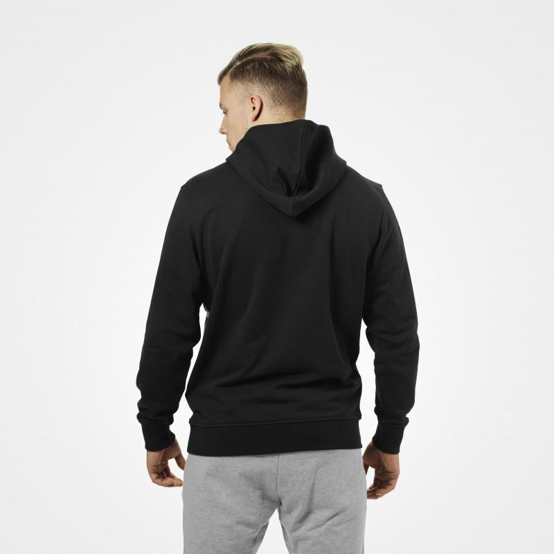 BetterBodies Brooklyn Zip Hood - Black With Grey Detail 2