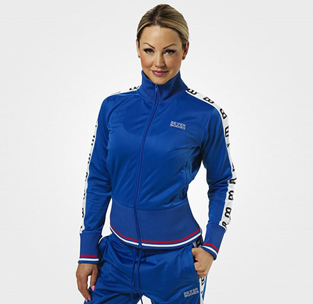 BetterBodies Trinity Track Jacket - Strong Blue Detail 1