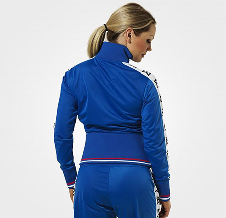 BetterBodies Trinity Track Jacket - Strong Blue Detail 2