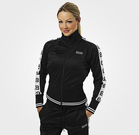 BetterBodies Trinity Track Jacket - Black Detail 1