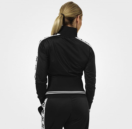 BetterBodies Trinity Track Jacket - Black Detail 2