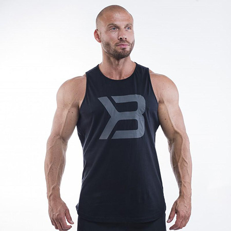 Better Bodies Brooklyn Tank - Black Detail 1