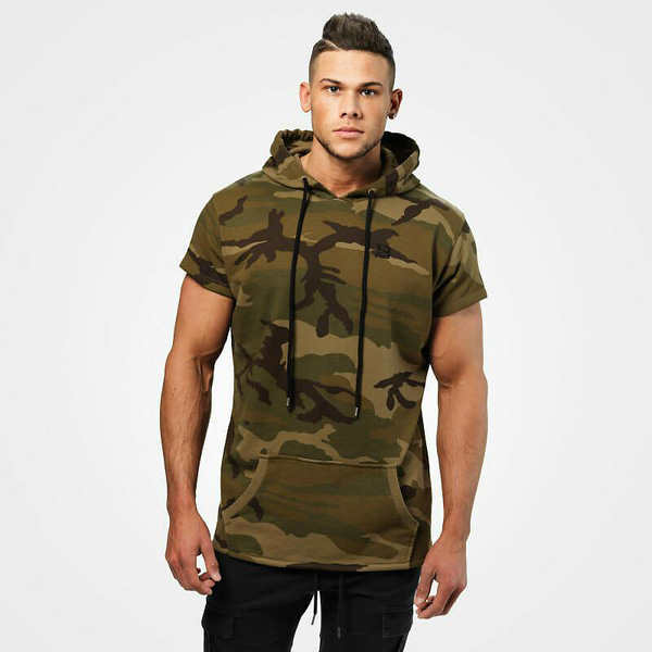BetterBodies Bronx T-Shirt Hoodie - Military Camo Detail 1
