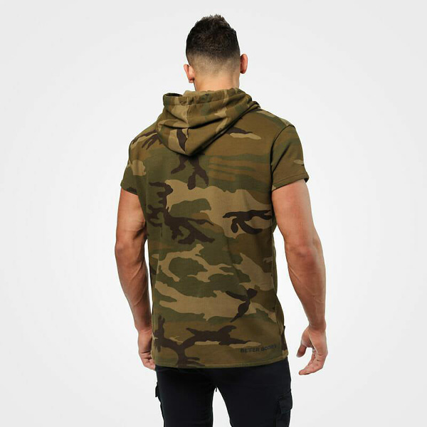 BetterBodies Bronx T-Shirt Hoodie - Military Camo Detail 2