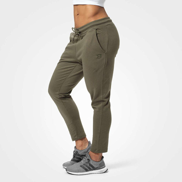 BetterBodies Astoria Sweat Pants - Washed Green Detail 1