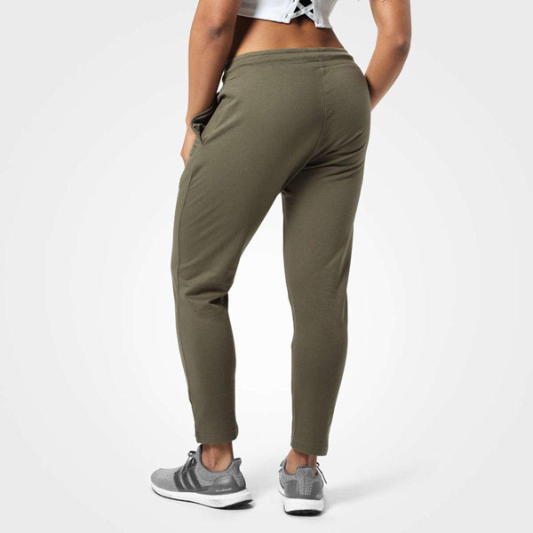 BetterBodies Astoria Sweat Pants - Washed Green Detail 2