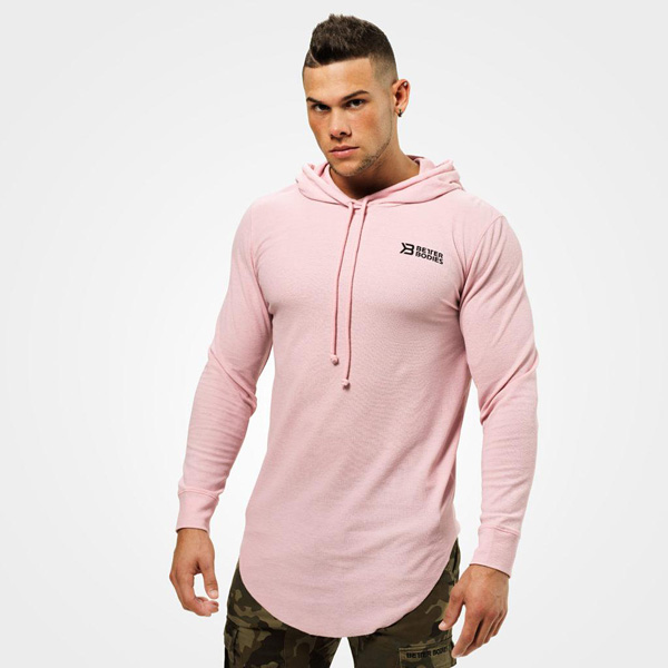 Better Bodies Stanton Thermal Hood - Light Pink Detail 1