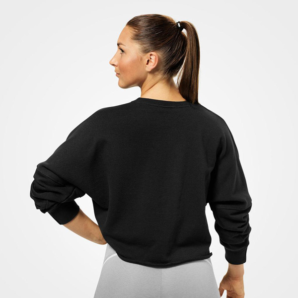 Better Bodies Bowery Raw Sweater - Black Detail 2