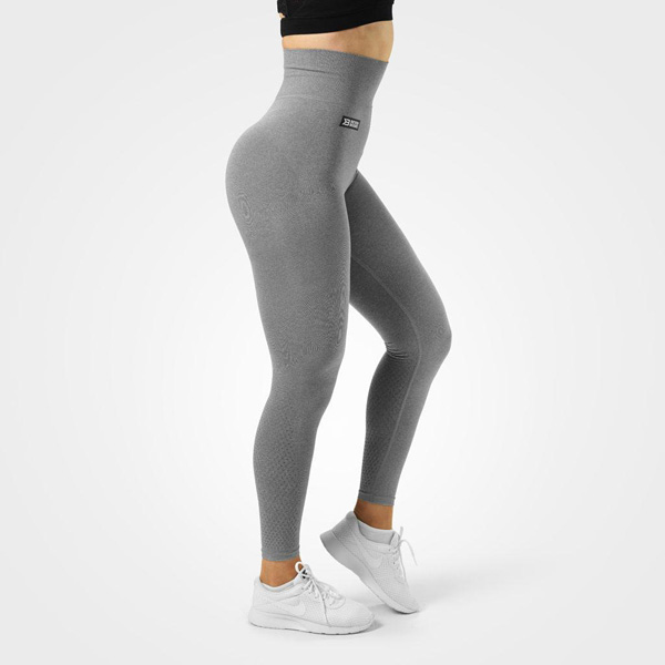 BetterBodies Bowery High Tights - Grey Melange Detail 1