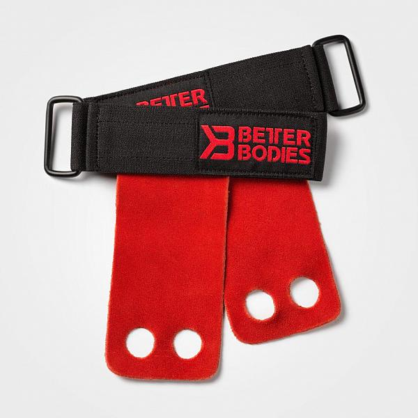 Better Bodies Athletic Grips - Bright Red Detail 2